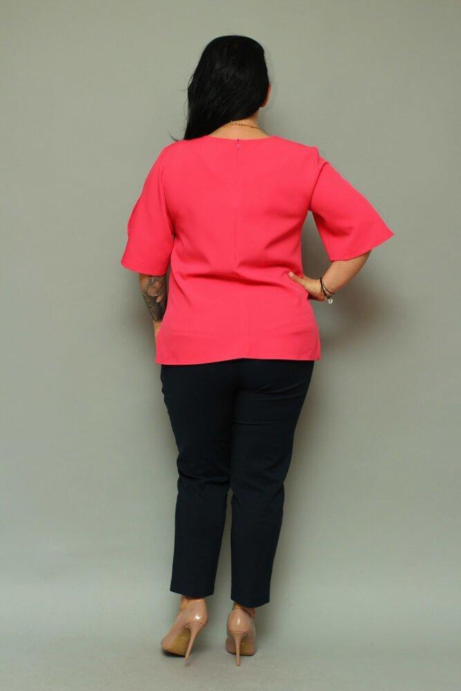 Bluzka LUSSY Plus Size Fuksja