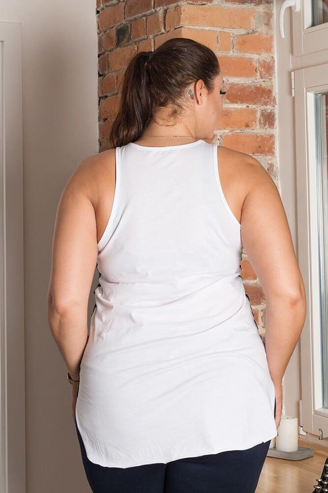 Bluzka PERFECT Plus Size Granatowa
