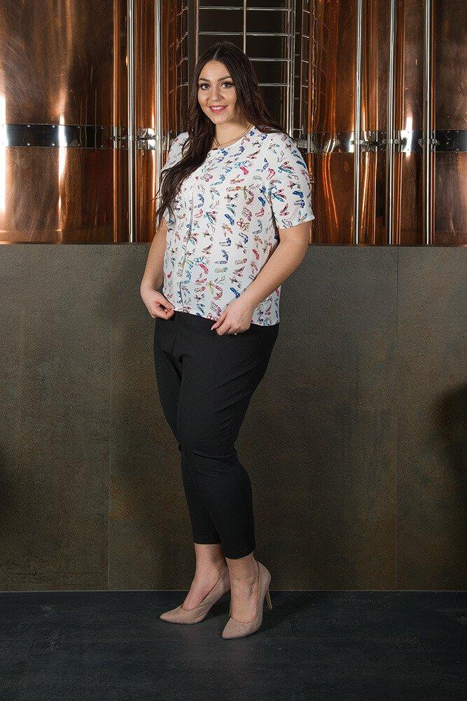 Bluzka damska ALINA duże rozmiary Koszulowa Wzór 2
