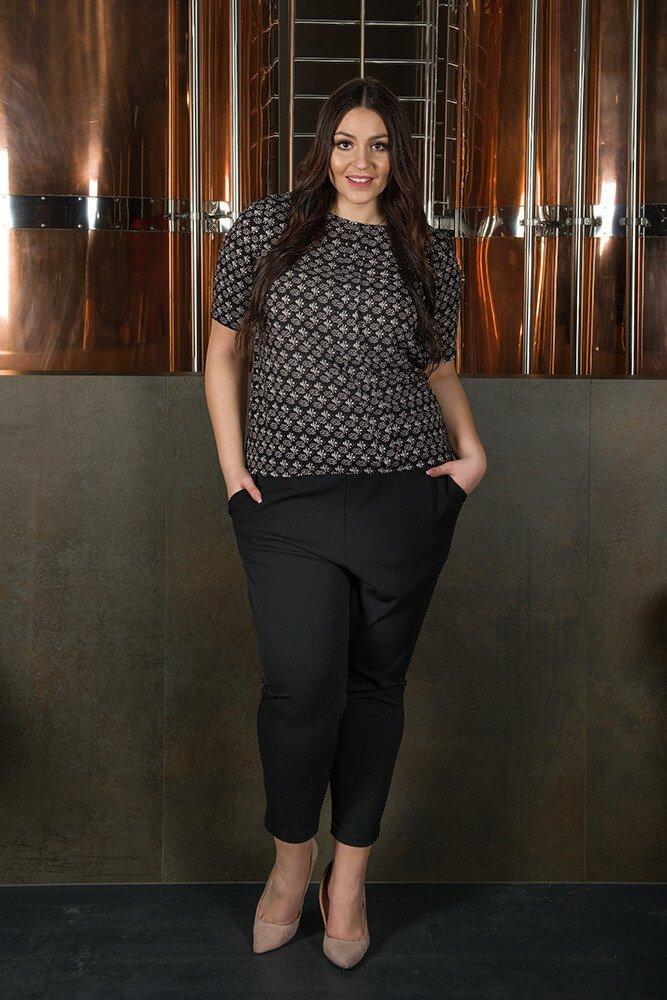 Bluzka damska ALINA duże rozmiary Koszulowa Wzór 5