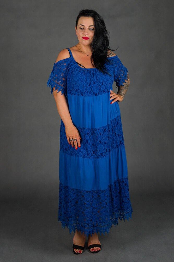 Chabrowa Sukienka NUVOLA Maxi Plus Size