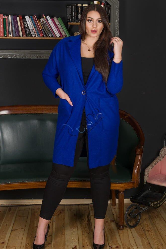 Chabrowy płaszcz damski FENDY Size Plus