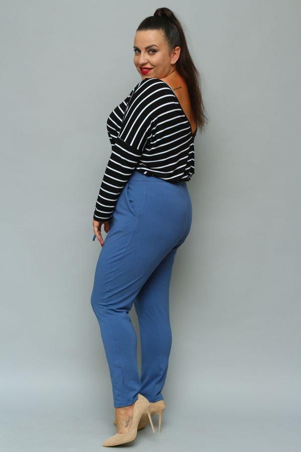 Ciemnoniebieskie Spodnie LOTARIO Plus Size