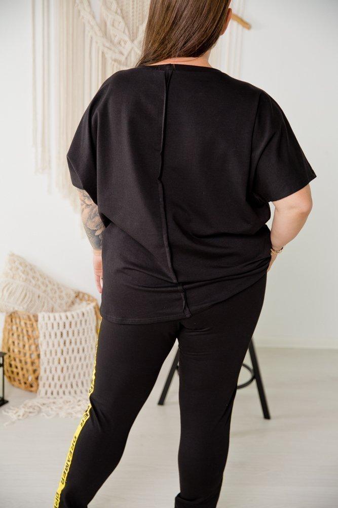 Czarna Bluzka DREAMERA Plus Size