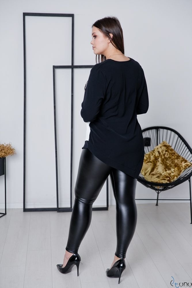 Czarna Bluzka FEVER Plus Size