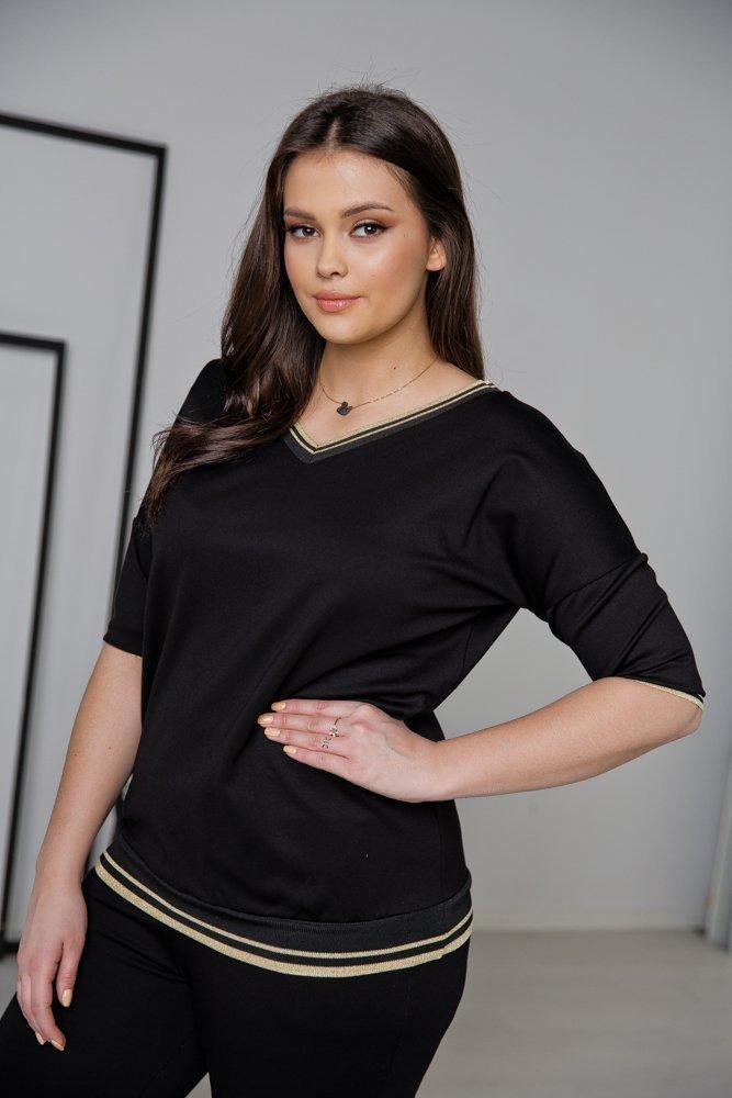Czarna Bluzka  REMA Plus Size