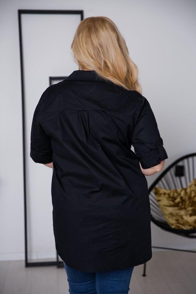 Czarna Koszula BAMBOLA Plus Size
