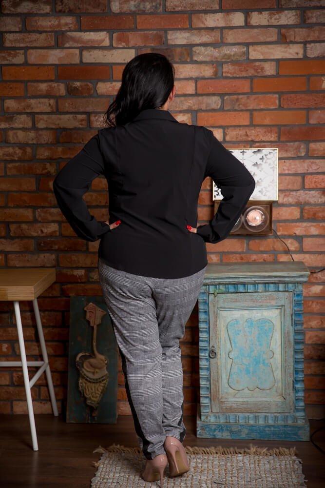 Czarna Koszula LIVIA Plus Size