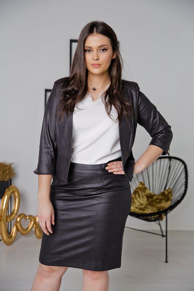 Czarna Spódnica BIRA Plus Size