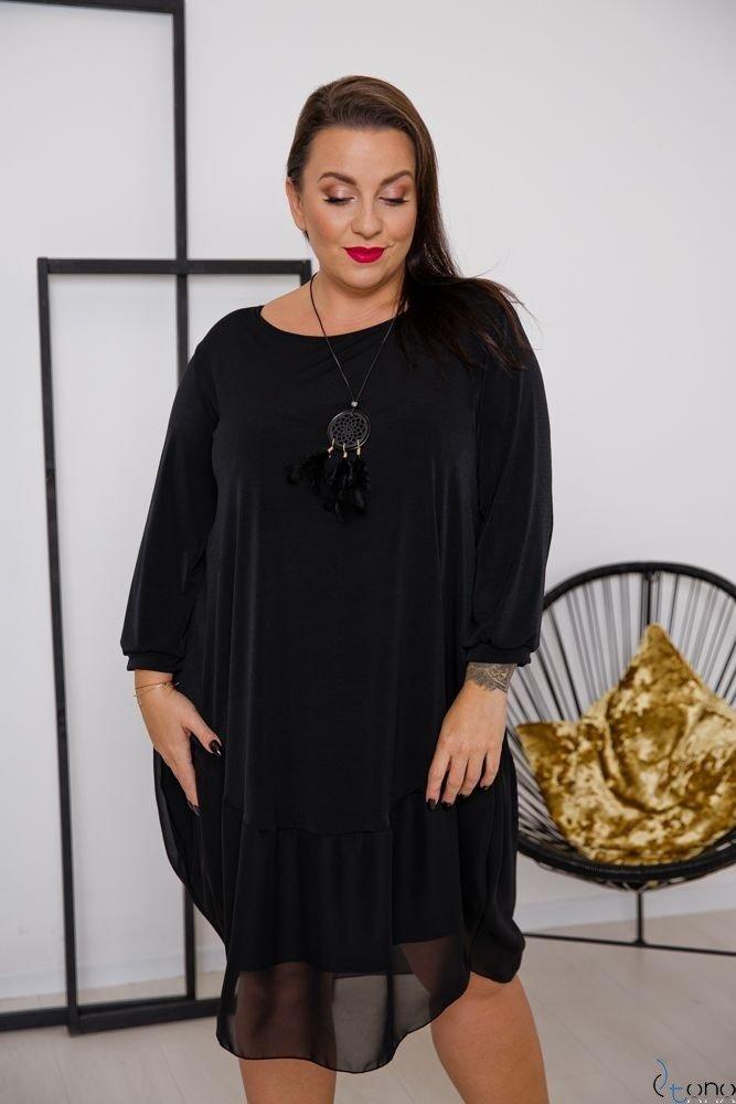 Czarna Sukienka APPRI Plus Size