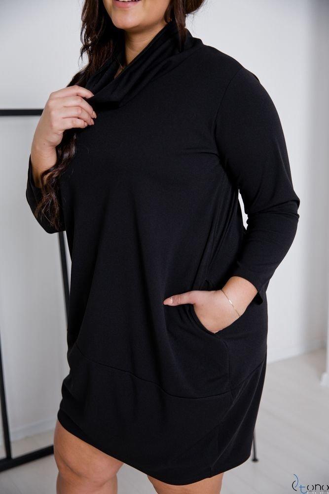 Czarna Sukienka BENICA Plus Size