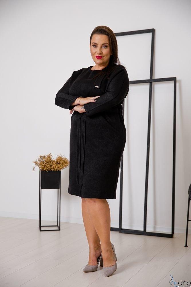 Czarna Sukienka BOFETTA Plus Size