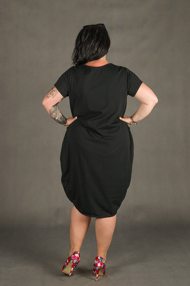 Czarna Sukienka GALOPPE Plus Size