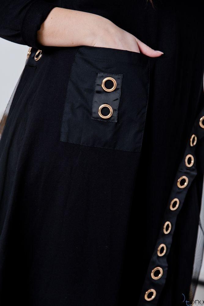 Czarna  Sukienka LAFERIA Plus Size