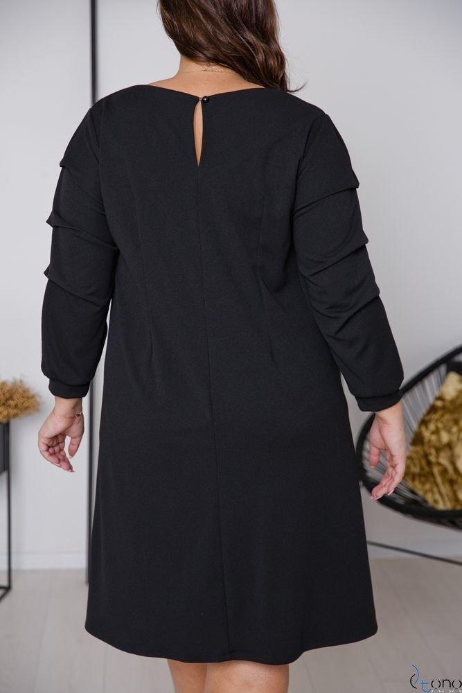 Czarna Sukienka MERIZIA Plus Size