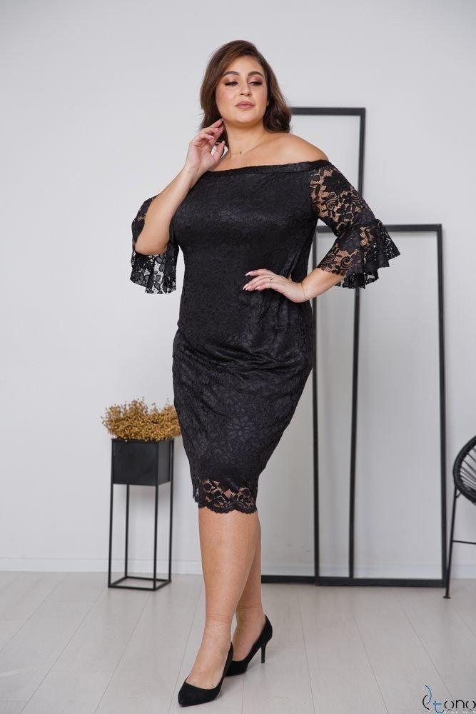Czarna Sukienka MORVY Plus Size