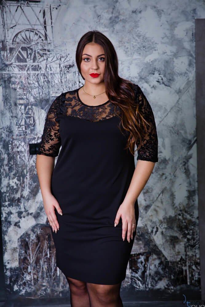 Czarna Sukienka NAVIDA Plus Size