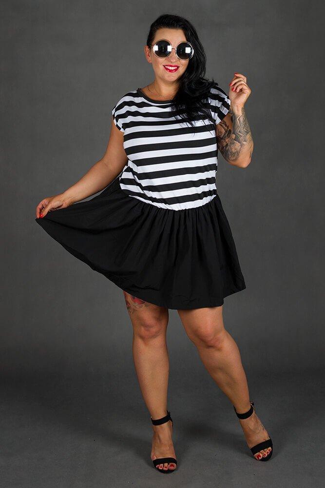 Czarna Sukienka PLAYA Mini Plus Size