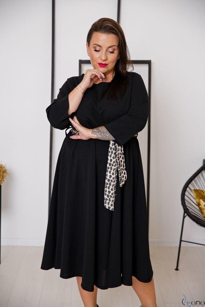 Czarna Sukienka SENTINELLA Plus Size