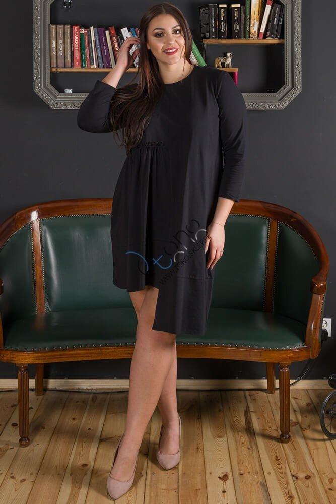 Czarna Sukienka damska VIVIAN Designerska Plus Size