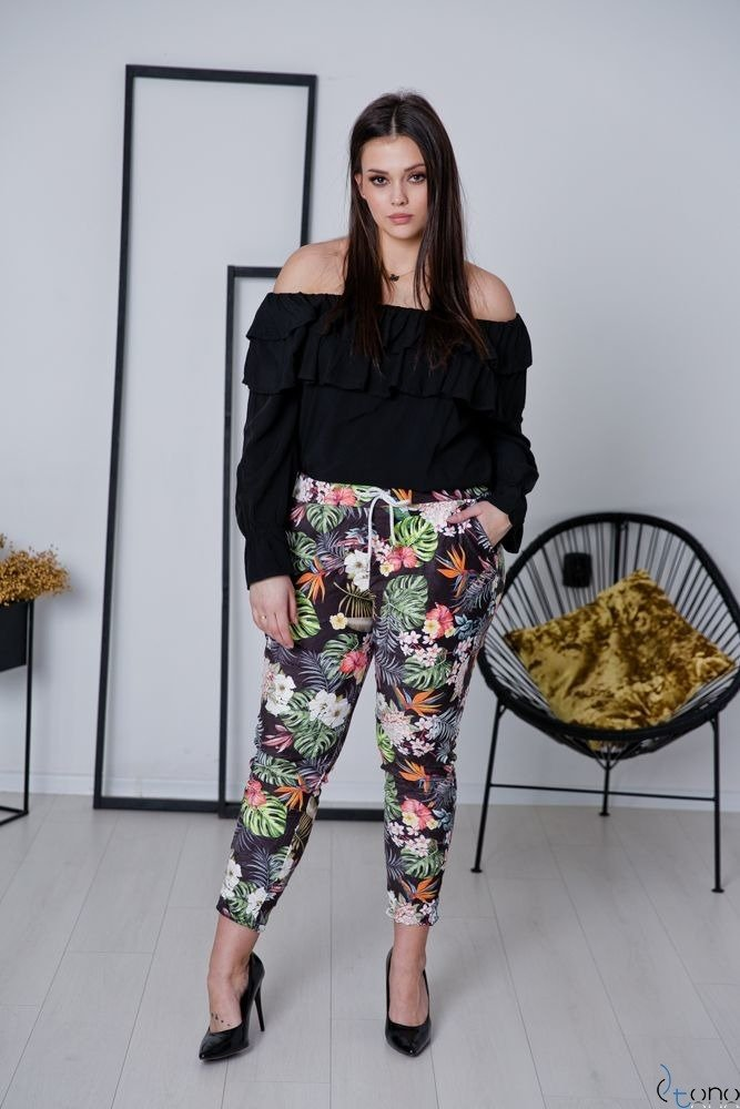 Czarna bluzka BASTIA Plus Size