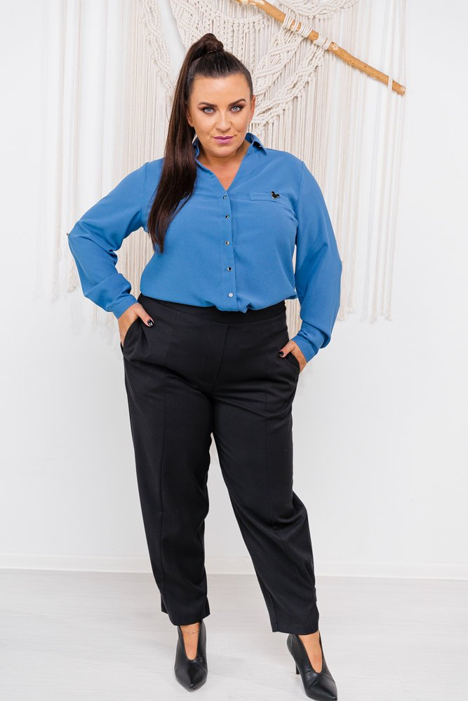 Czarne Spodnie ANDERO Plus Size