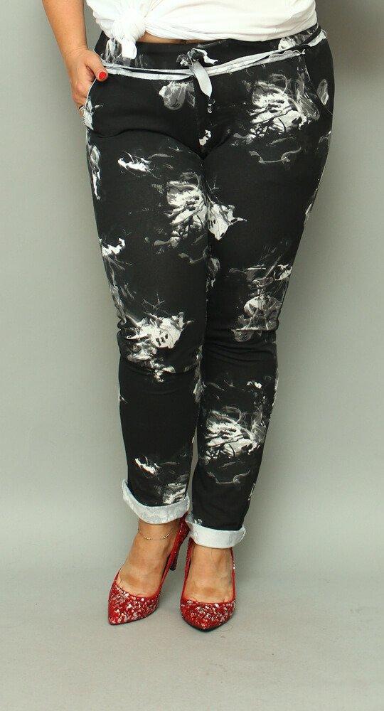 Czarne Spodnie CARRY Dresowe Plus Size