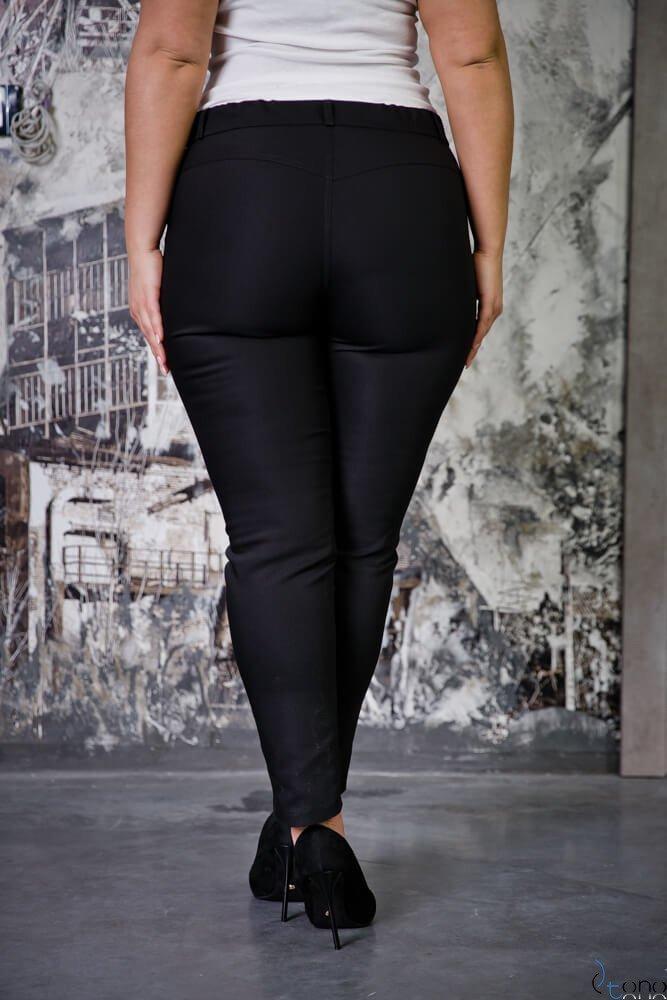 Czarne Spodnie RESPER eleganckie Plus Size
