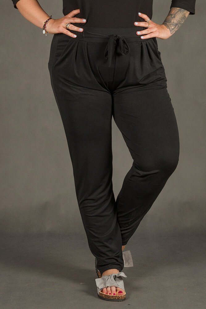 Czarne Spodnie SPOKEY Zwiewne Plus Size