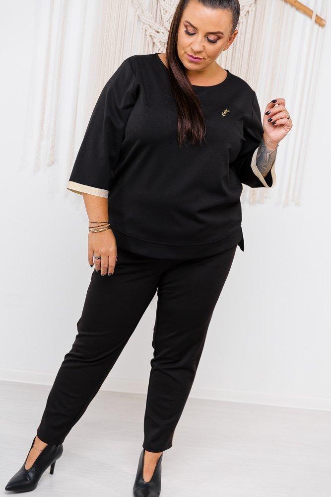 Czarne Spodnie TACO Plus Size