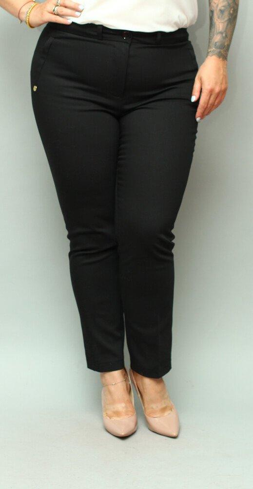 Czarne Spodnie eleganckie damskie VOLTENO Plus Size