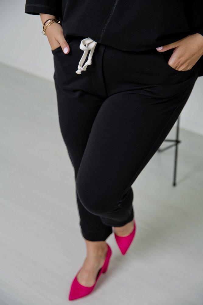 Czarny Komplet Dresowy KARDI Plus Size