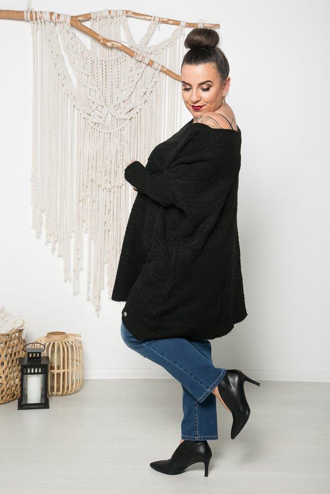 Czarny Sweter TRECCIA Plus Size