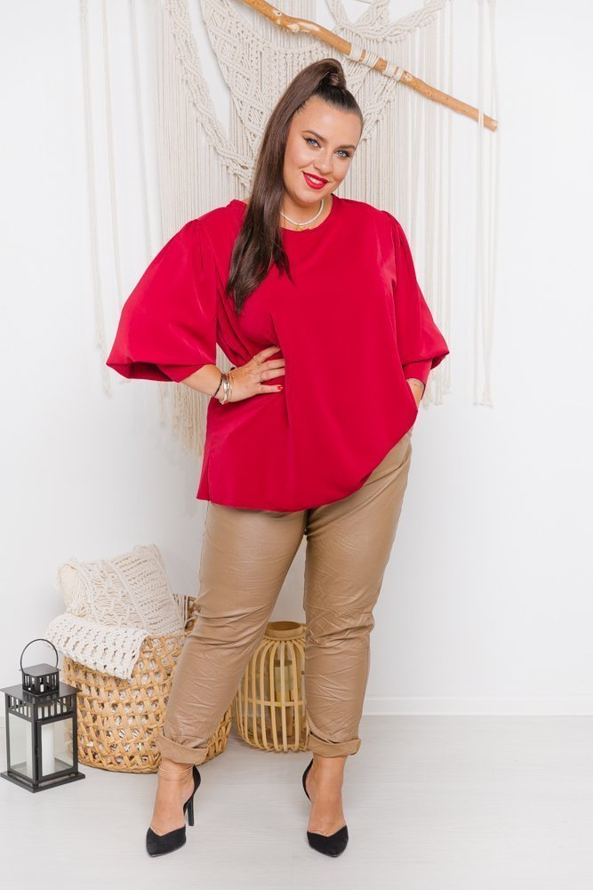 Czerwona Bluzka KALIENTE Plus Size