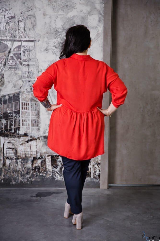 Czerwona Bluzka PUNTA Plus Size