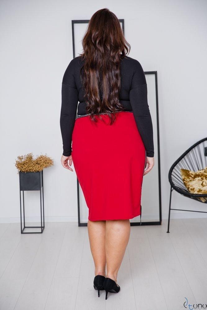 Czerwona Spódnica LAURA Plus Size