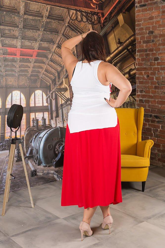 Czerwona Spódnica SUSANNA Maxi Plus Size
