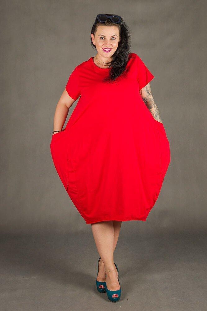 Czerwona Sukienka GALOPPE Plus Size