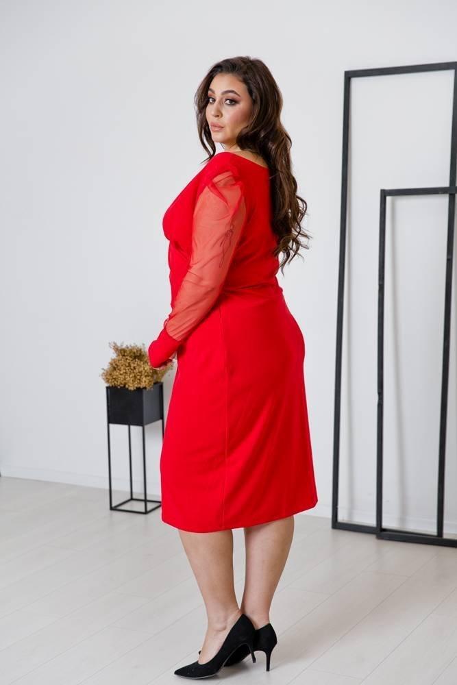 Czerwona Sukienka SINDERELA Plus Size