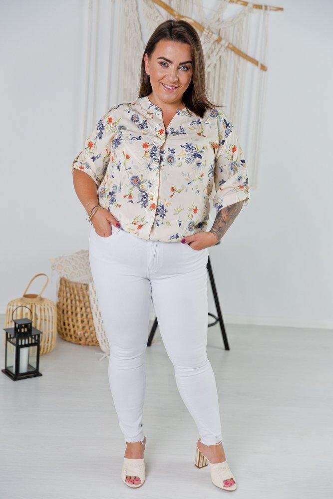 Ecru Koszula TRENA Plus Size