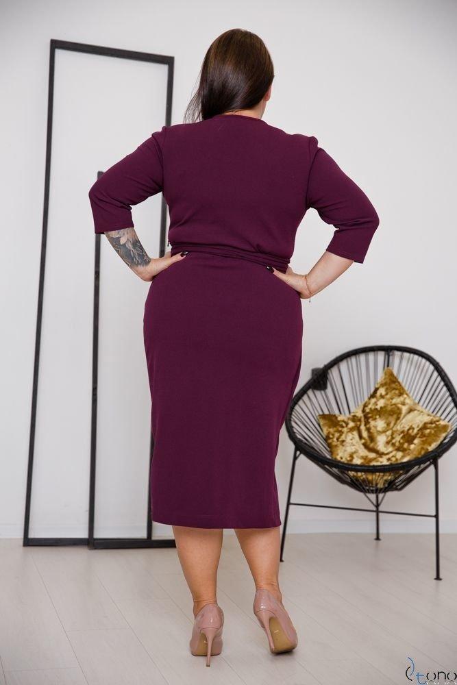 Fioletowa Sukienka FERRERA Plus Size