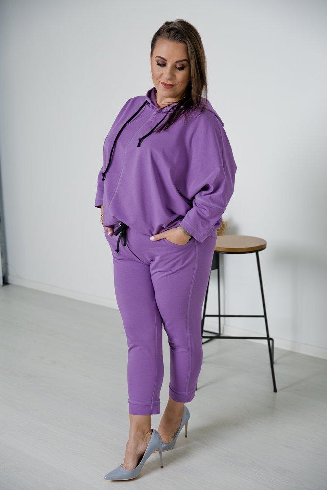 Fioletowy Komplet Dresowy KARDI Plus Size