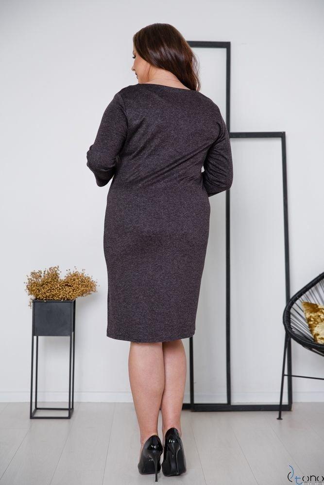 Grafitowa Sukienka DAFNY Plus Size