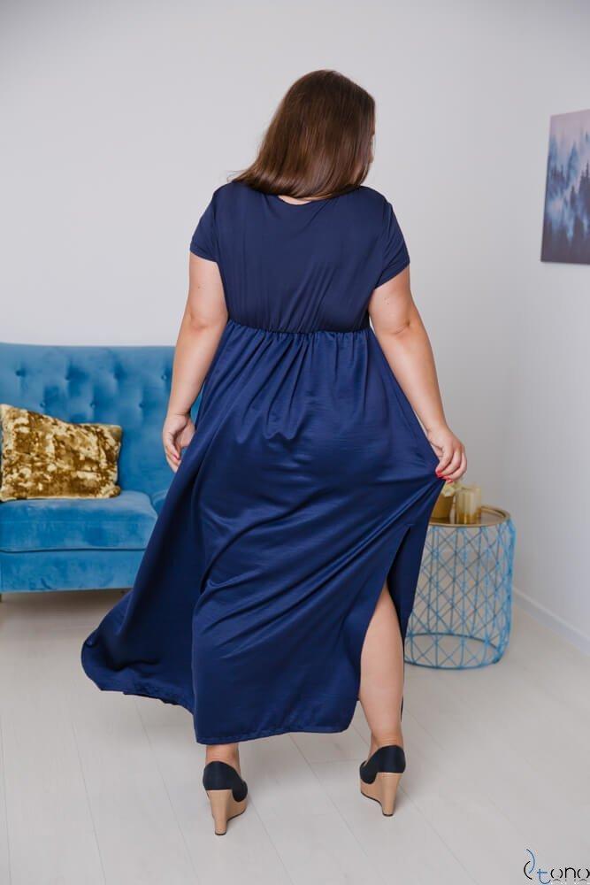 Granatowa Sukienka  FASIONA Plus Size
