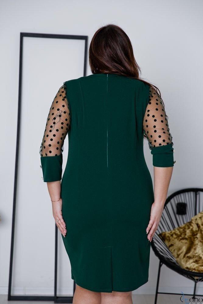 Jasnozielona Sukienka BOFFINA Plus Size