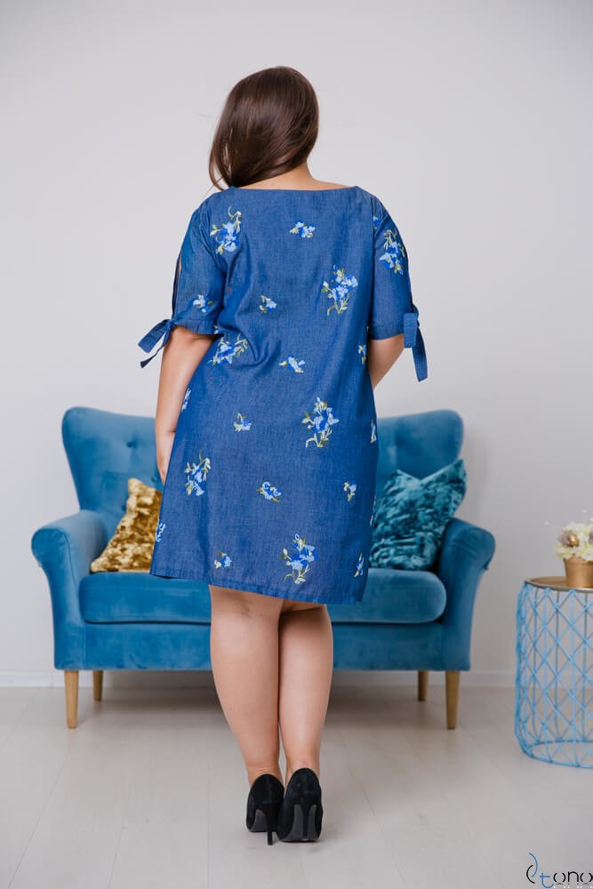 Jeansowa Sukienka KARPATIA Plus Size Wzór 2