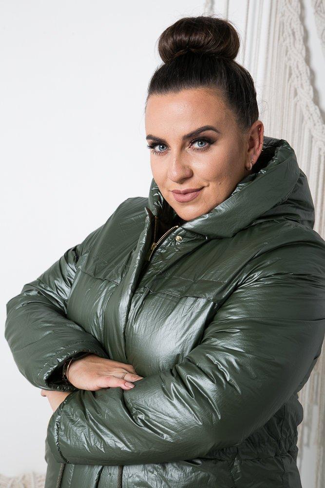 Khaki Kurtka GINTER Plus Size