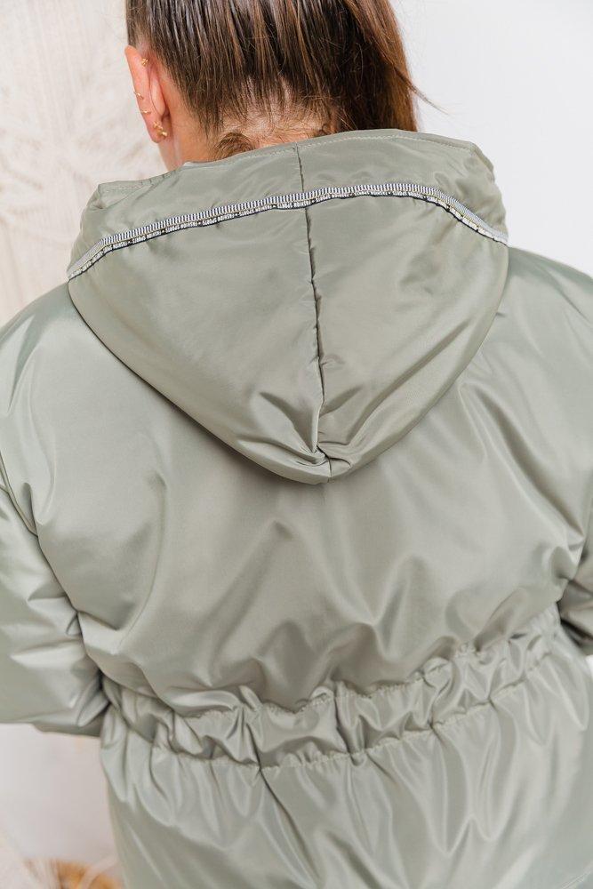 Khaki Kurtka INFERNA Plus Size