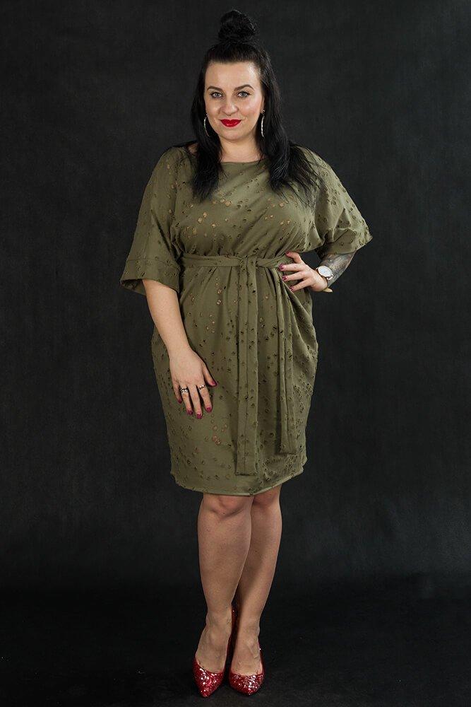 Khaki Tunika TRAPPA Designerska Plus Size