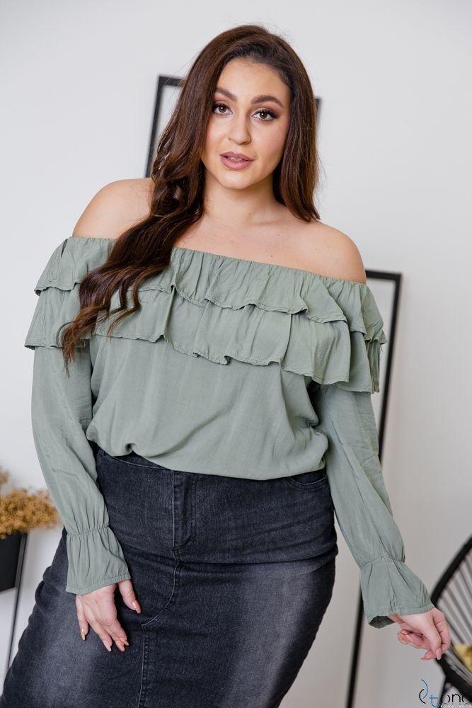 Khaki bluzka BASTIA Plus Size